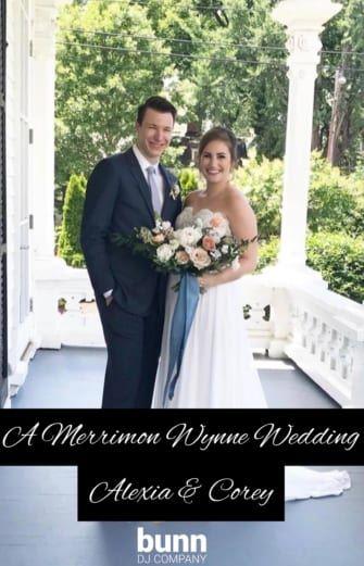 Merrimon Wynne Wedding dj raleigh nc bunn dj company