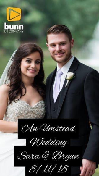 umstead hotel wedding dj bunny dj company