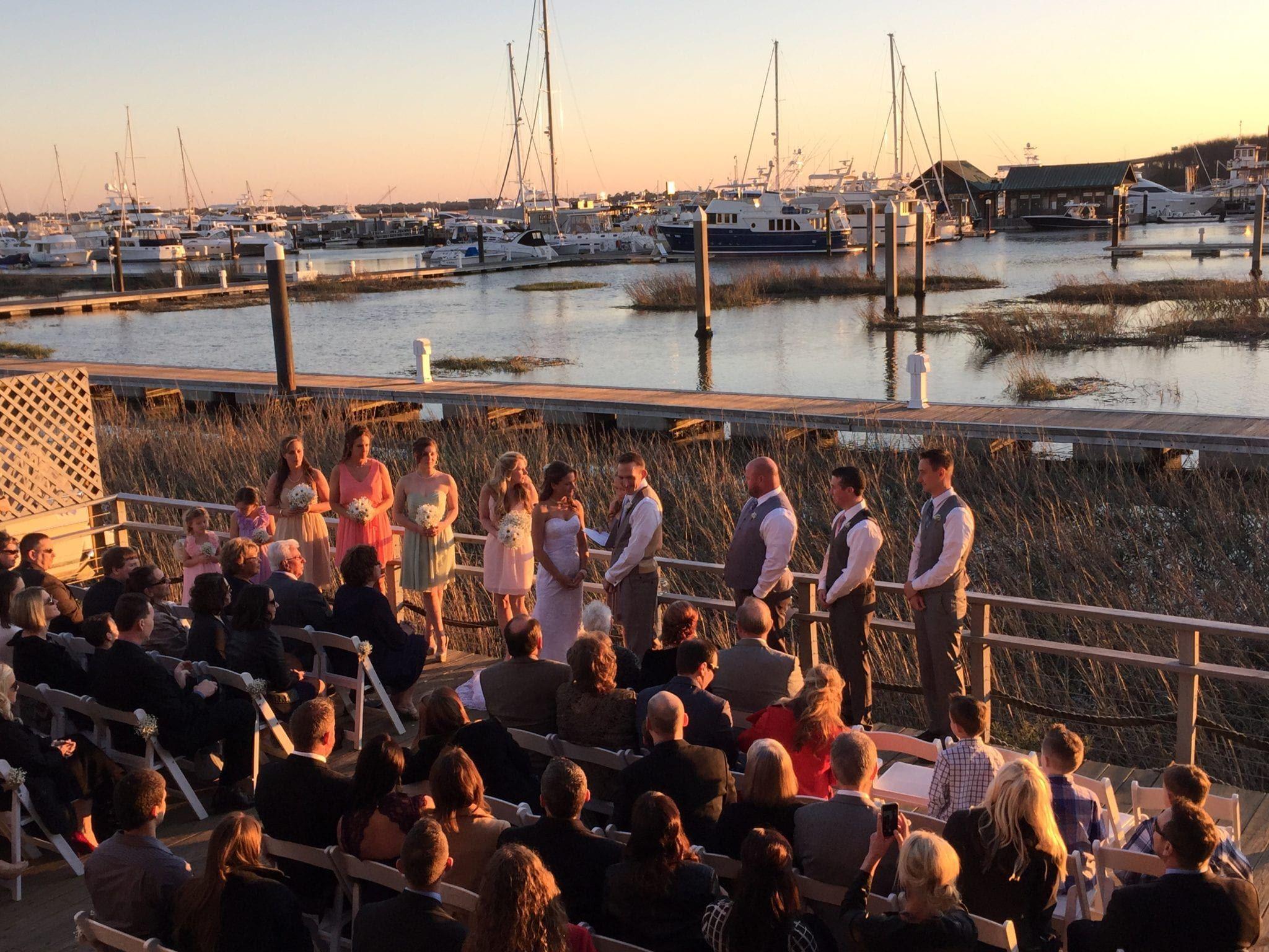 David Fox Bergey Foutz Wedding Ceremony And Reception At The Charleston Yacht Club SC