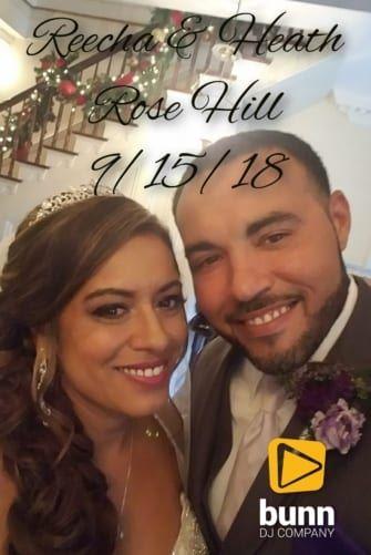 rose hill wedding dj Bunn DJ company