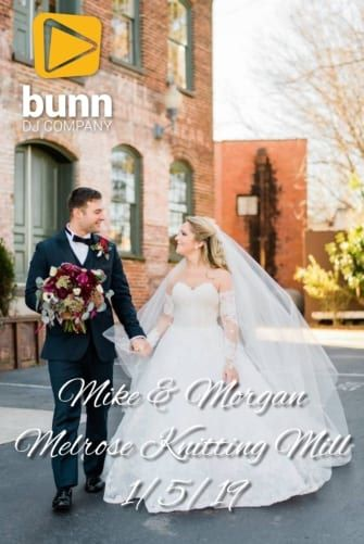 melrose knitting mill wedding dj Bunn DJ company