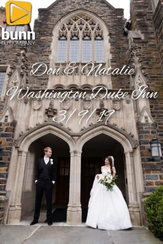 Washington Duke inn wedding dj Bunn dJ company
