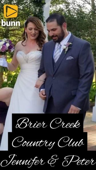 brier creek country club wedding dj bunn dj company