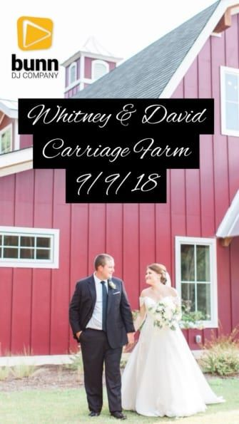 pavilion at carriage farm wedding dj bunn dj company